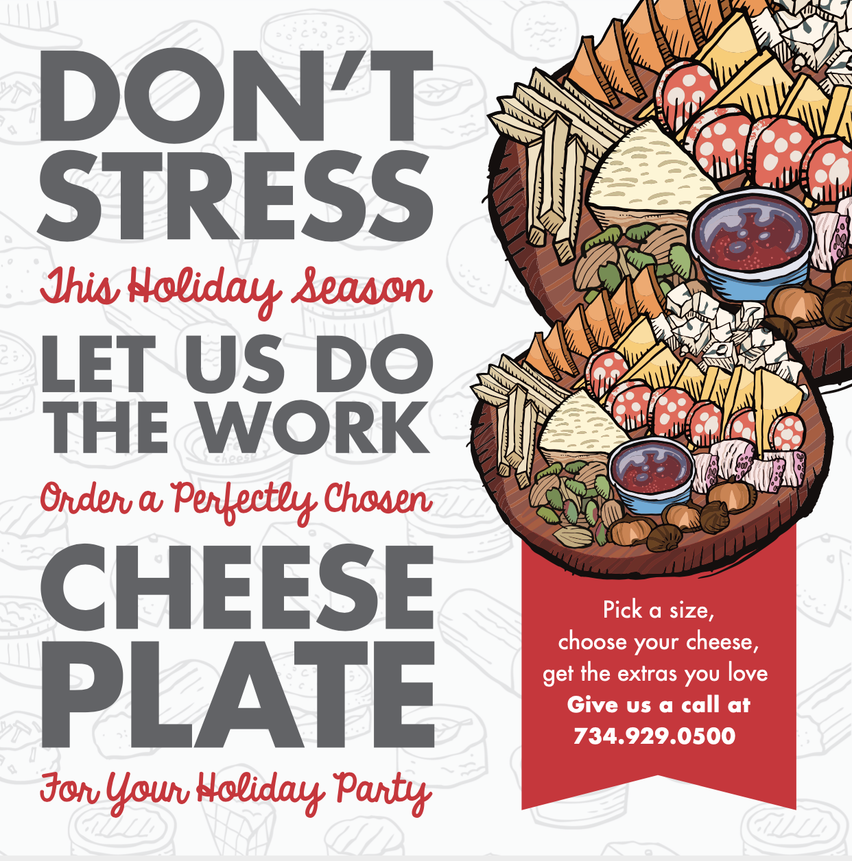 Don't Stress Cheese Plate